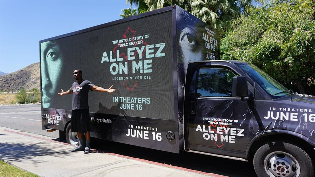 LED Mobile Billboard for All Eyez On Me at Cochella in CA