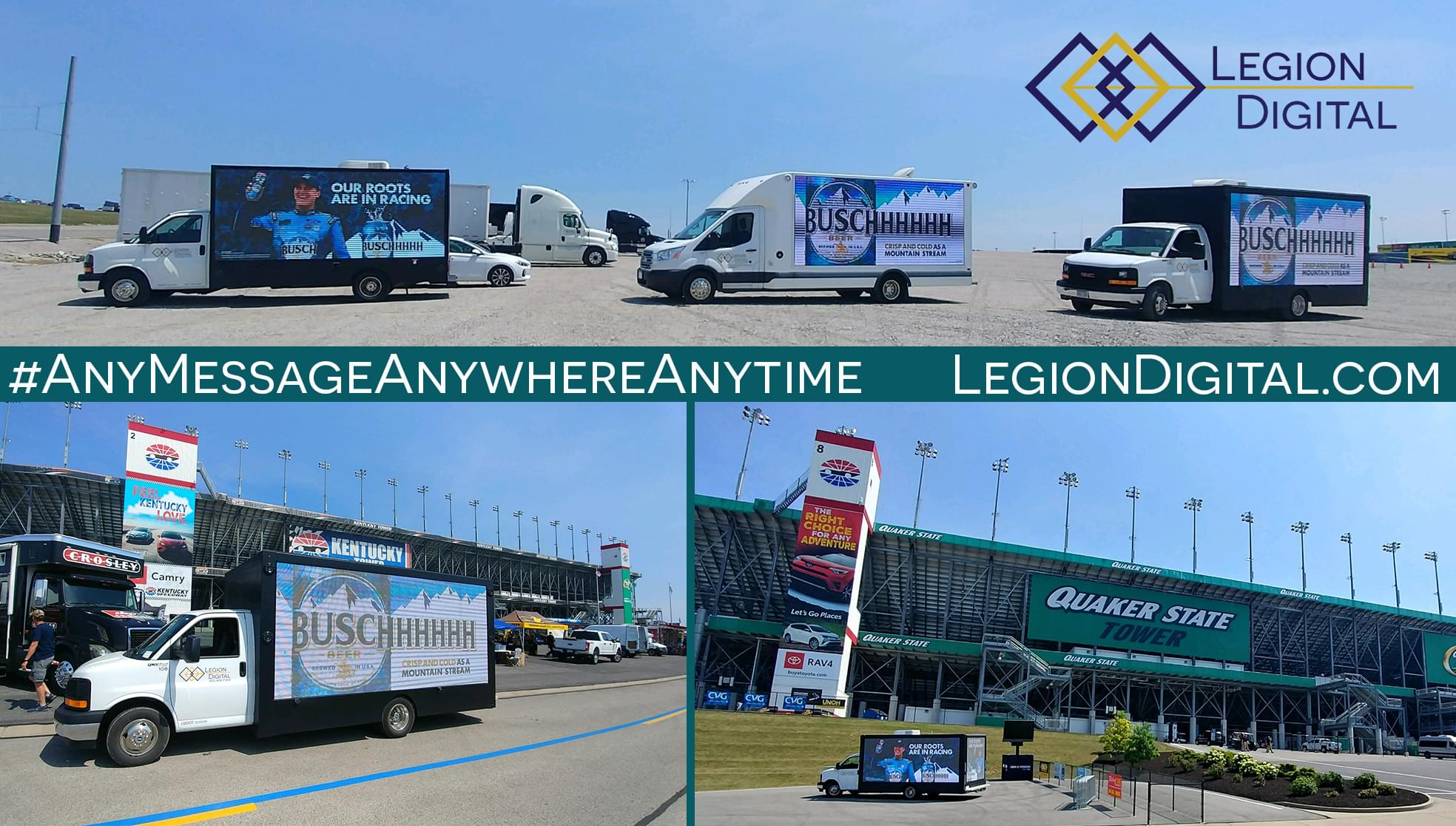 LED Mobile Billboard for Busch at Kentucky Speedway
